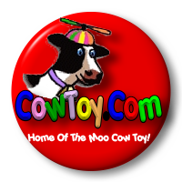 Logo Image-Click To Enter-CowToy.com, Home of the Moo Cow Toy In The Box and other fun vintage toys like sea monkeys, happy drinking birds, worry dolls, vintage tin toys and more! What is a moo cow toy? Just tip the cow can over, to hear a realistic moo cow voice.